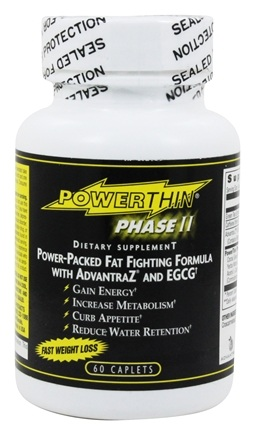 Gold Star Nutrition - Power Thin Phase II Power-Packed Fat Fighting Formula with Advantra Z and EGCG - 60 Caplets
