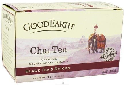 DROPPED: Good Earth Teas - Chai Tea Original - 18 Tea Bags CLEARANCE PRICED