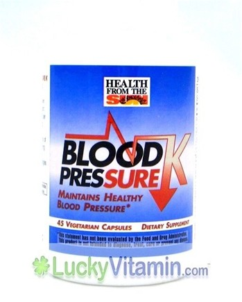 DROPPED: Health From The Sun - Blood Pressure K - 45 Vegetarian Capsules CLEARANCE PRICED