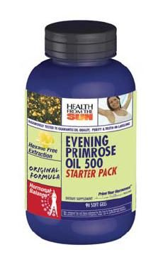 DROPPED: Health From The Sun - Evening Primrose Starter Pack 500 mg. - 90 Softgels