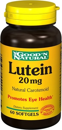 DROPPED: Good 'N Natural - Lutein 20 mg. - 60 Softgels