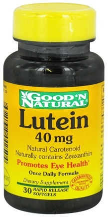 DROPPED: Good 'N Natural - Lutein 40 mg. - 30 Softgels