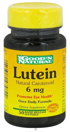 DROPPED: Good 'N Natural - Lutein Rapid Release 6 mg. - 50 Softgels