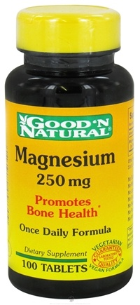 DROPPED: Good 'N Natural - Magnesium 250 mg. - 100 Tablets