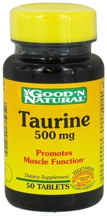 DROPPED: Good 'N Natural - Taurine 500 mg. - 50 Tablets
