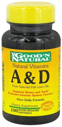 DROPPED: Good 'N Natural - Vitamins A & D - 100 Softgels