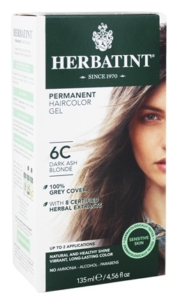 Herbatint - Herbal Haircolor Permanent Gel 6C Dark Ash Blonde - 4.56 oz.