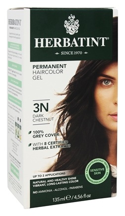 Herbatint - Herbal Haircolor Permanent Gel 3N Dark Chestnut - 4.5 oz.