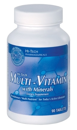 DROPPED: Hi-Tech Pharmaceuticals - Multi-Vitamin with Minerals - 90 Tablets CLEARANCE PRICED