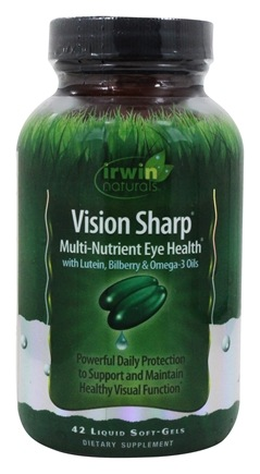 Irwin Naturals - Vision Sharp Multi-Nutrient Eye Health With Lutein, Bilberry & Omega-3 Oils - 42 Softgels