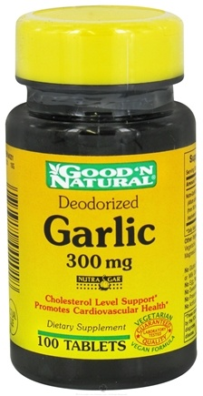 DROPPED: Good 'N Natural - Deodorized Garlic 300 mg. - 100 Tablets CLEARANCE PRICED