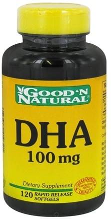 DROPPED: Good 'N Natural - DHA Rapid Release 100 mg. - 120 Softgels