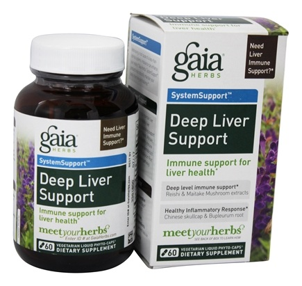 DROPPED: Gaia Herbs - Deep Liver Support Liquid Phyto Capsules - 60 Vegetarian Capsules Formerly Hep Support