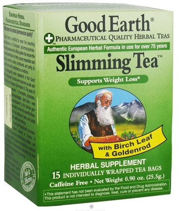DROPPED: Good Earth Teas - Slimming Tea - 15 Tea Bags CLEARANCE PRICED