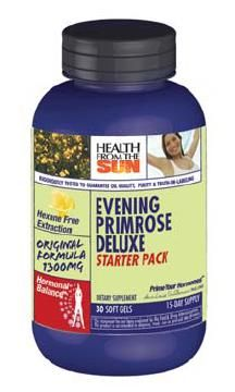 DROPPED: Health From The Sun - Evening Primrose Deluxe Starter Pack 1300 mg. - 30 Softgels