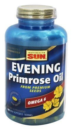 DROPPED: Health From The Sun - Evening Primrose Oil 500 mg. - 180 Softgels