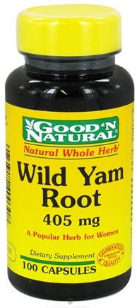 DROPPED: Good 'N Natural - Wild Yam Root 405 mg. - 100 Capsules