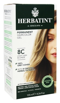 Herbatint - Herbal Haircolor Permanent Gel 8C Light Ash Blonde - 4.5 oz.