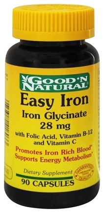 Good 'N Natural - Easy Iron (Iron Glycinate) 28 mg. - 90 Capsules