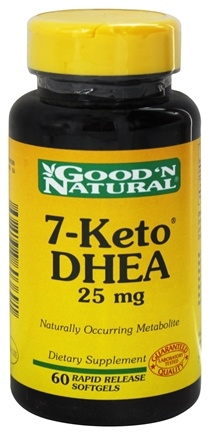 DROPPED: Good 'N Natural - 7-Keto DHEA 25 mg. - 60 Softgels