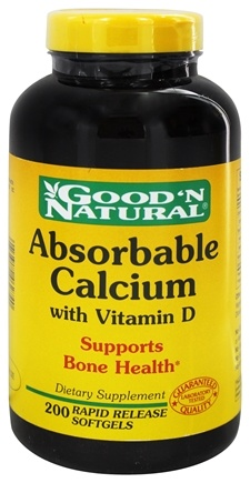 DROPPED: Good 'N Natural - Absorbable Calcium with Vitamin D 1000 mg. - 200 Softgels