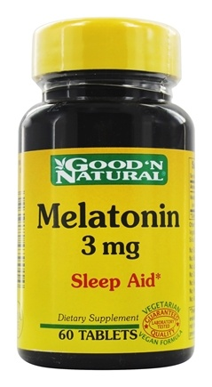 DROPPED: Good 'N Natural - Melatonin 3 mg. - 60 Tablets