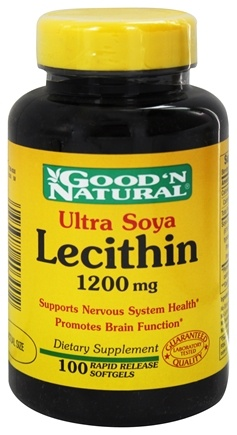 DROPPED: Good 'N Natural - Ultra Soya Lecithin 1200 mg. - 100 Softgels Formerly 19 grain