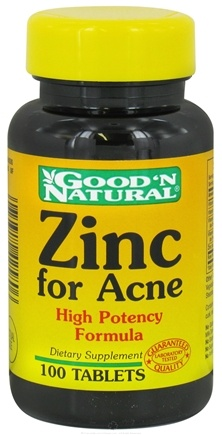 DROPPED: Good 'N Natural - Zinc For Acne - 100 Tablets