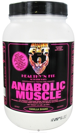 DROPPED: Healthy N' Fit - Anabolic Muscle Protein Vanilla Shake - 3.5 lbs. CLEARANCE PRICED