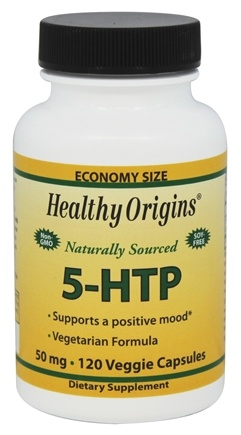 DROPPED: Healthy Origins - Naturally Sourced 5-HTP 50 mg. - 120 Vegetarian Capsules