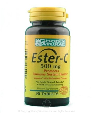 DROPPED: Good 'N Natural - Ester C with BioflavonoidS 500 mg. - 90 Capsules