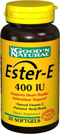 DROPPED: Good 'N Natural - Ester E 400 IU - 30 Softgels