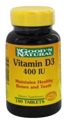 DROPPED: Good 'N Natural - Vitamin D3 400 IU - 100 Tablets