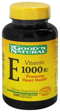 DROPPED: Good 'N Natural - Vitamin E 1000 IU - 100 Softgels Formerly Pure dl-Alpha