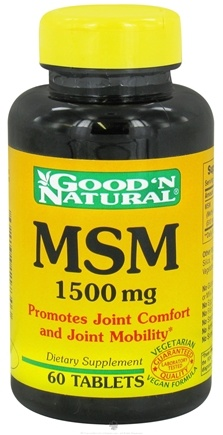 DROPPED: Good 'N Natural - MSM 1500 mg. - 60 Tablets
