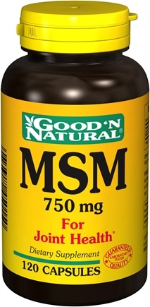 DROPPED: Good 'N Natural - MSM 750 mg. - 120 Capsules