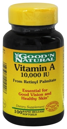DROPPED: Good 'N Natural - Vitamin A From Retinyl Palmitate & Fish Liver Oil 10000 IU - 100 Softgels