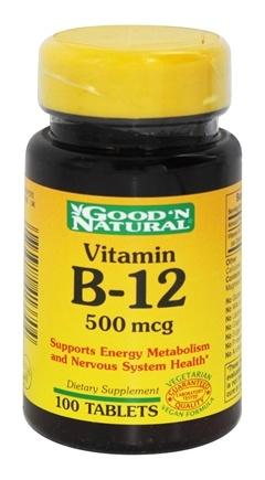 DROPPED: Good 'N Natural - Vitamin B-12 500 mcg. - 100 Tablets