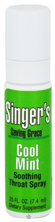 DROPPED: Herbs Etc - Singer's Saving Grace Soothing Throat Spray Cool Mint - 0.25 oz. CLEARANCE PRICED