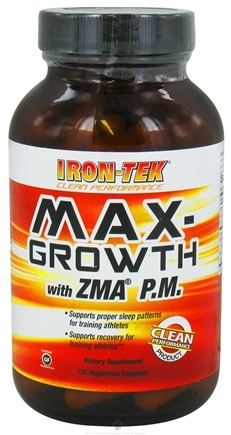 DROPPED: Iron Tek - Max-Growth with ZMA P.M. - 120 Vegetarian Capsules CLEARANCE PRICED