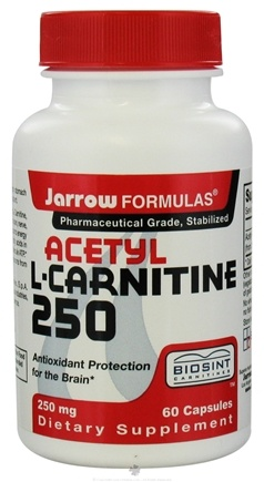 DROPPED: Jarrow Formulas - Acetyl L-Carnitine 250 mg. - 60 Capsules CLEARANCE PRICED