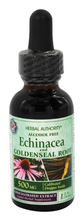 DROPPED: Herbal Authority - Echinacea Goldenseal Alcohol Free - 1 oz. Formerly called Good 'N Natural
