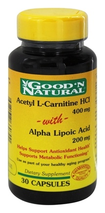 DROPPED: Good 'N Natural - Acetyl L-Carnitine with Alpha Lipoic Acid 400 200 mg. - 30 Capsules
