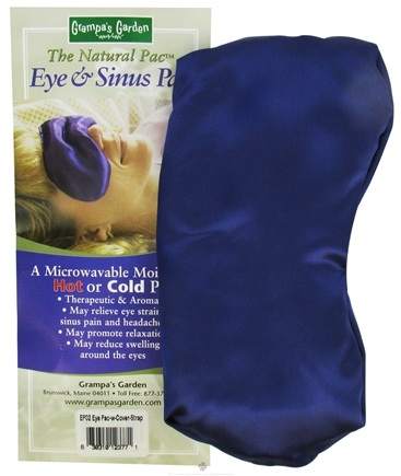 DROPPED: Grampa's Garden - Eye/Sinus Pac (With Strap & Washable Cover) Purple Satin - CLEARANCE PRICED