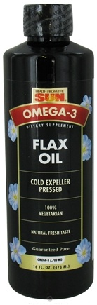 DROPPED: Health From The Sun - Omega-3 Flax Oil 100% Vegetarian - 16 oz. CLEARANCED PRICED