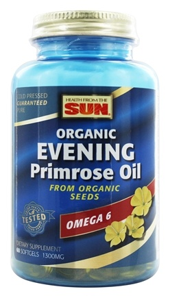 Health From The Sun - Evening Primrose Oil From Organic Seeds 1300 mg. - 60 Softgels