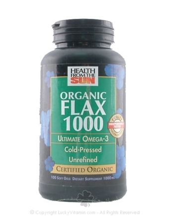 DROPPED: Health From The Sun - Organic Flax 1000 - 100 Softgels