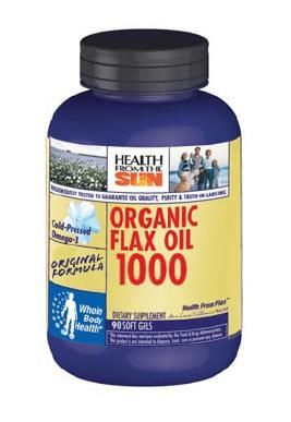 DROPPED: Health From The Sun - Organic Flax Oil - 90 Softgels