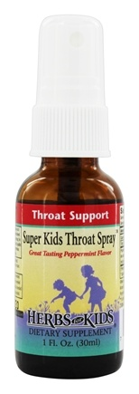 DROPPED: Herbs for Kids - Super Kids Throat Spray Peppermint - 1 oz.