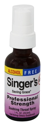 Zoom View - Singer's Saving Grace Soothing Throat Spray Professional Strength Alcohol Free